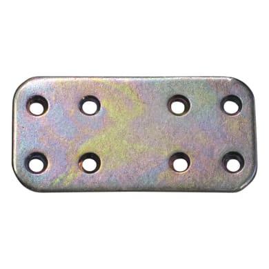 Piastra dritta standers in acciaio zincato L 60 x Sp 2 x H 30 mm