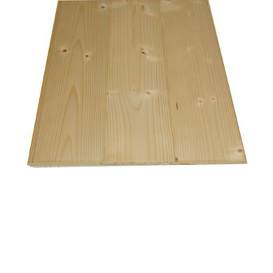 Perlina legno grezzo naturale 1° scelta L 200 x H 10 cm Sp 10 mm
