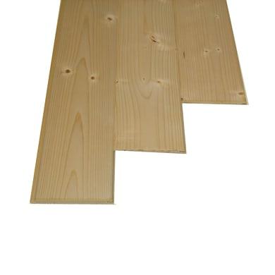 Perlina legno grezzo naturale 1° scelta L 300 x H 10 cm Sp 10 mm