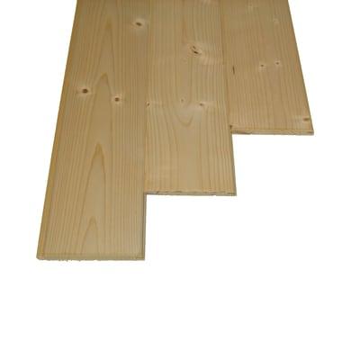 Perlina legno grezzo naturale 1° scelta L 100 x H 10 cm Sp 10 mm