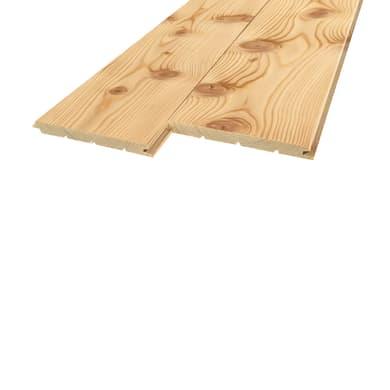 Perlina legno grezzo naturale 1° scelta L 200 x H 12 cm Sp 12 mm