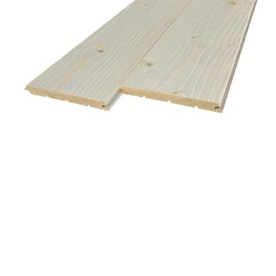 Perlina legno verniciato grigio 1° scelta L 200 x H 12 cm Sp 12 mm