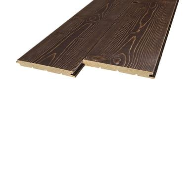 Perlina legno verniciato noce 1° scelta L 200 x H 12 cm Sp 12 mm