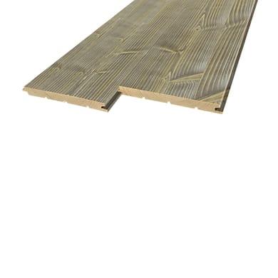 Perlina legno verniciato cenere 1° scelta L 200 x H 12 cm Sp 12 mm