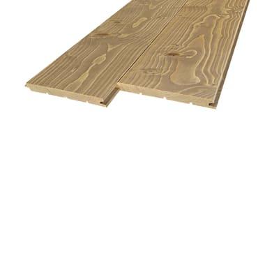 Perlina legno verniciato tortora 1° scelta L 200 x H 12 cm Sp 12 mm