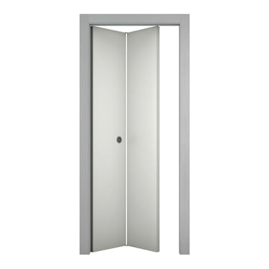 Porta pieghevole asimmetrica Bath bianco laccato L 70 x H 210 cm sinistra