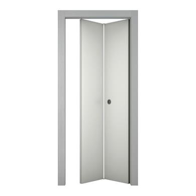 Porta pieghevole asimmetrica Bath bianco laccato L 80 x H 210 cm destra