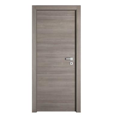 Porta a battente per Bed & breakfast Stylish grigio L 90 x H 210 cm sinistra