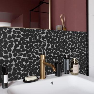 Mosaico Galeto Black H 30.5 x L 30.5 cm nero
