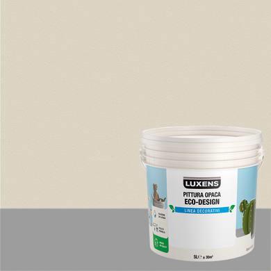 Pittura decorativa LUXENS PITTURA OPACA ECO-DESIGN 5 l bianco sasso tinta unita