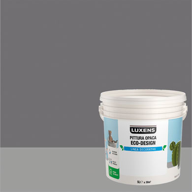 Pittura decorativa LUXENS PITTURA OPACA ECO-DESIGN 5 l grigio roccia tinta unita