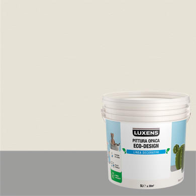 Pittura decorativa LUXENS PITTURA OPACA ECO-DESIGN 5 l bianco nuvola tinta unita