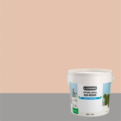 Pittura decorativa LUXENS PITTURA OPACA ECO-DESIGN 2.5 l aria rosa tinta unita