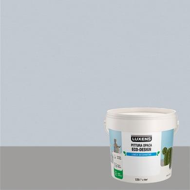 Pittura decorativa LUXENS PITTURA OPACA ECO-DESIGN 2.5 l azzurro cielo tinta unita