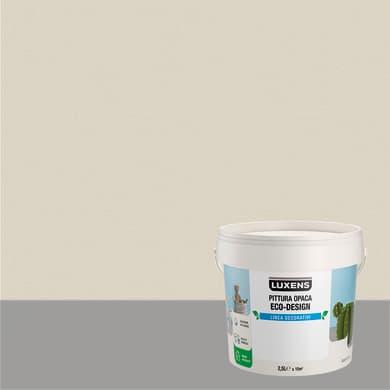 Pittura decorativa LUXENS PITTURA OPACA ECO-DESIGN 2.5 l bianco sasso tinta unita