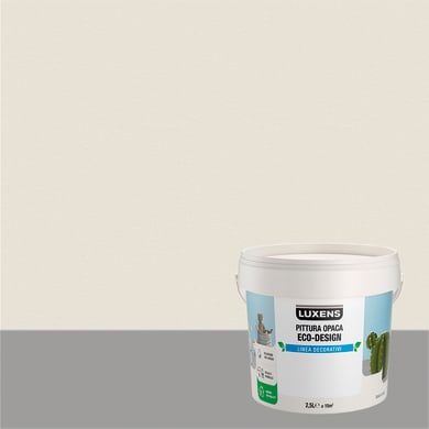 Pittura decorativa LUXENS PITTURA OPACA ECO-DESIGN 2.5 l bianco nuvola tinta unita