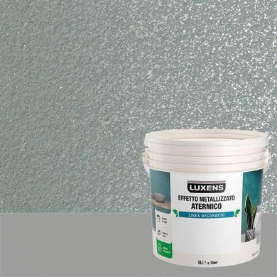 Pittura decorativa LUXENS EFFETTO METALLIZZATO ATERMICO 5 l quarzo fosco effetto metallo