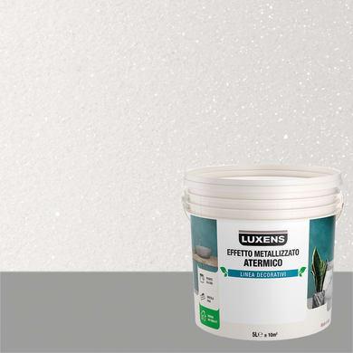 Pittura decorativa LUXENS EFFETTO METALLIZZATO ATERMICO 5 l bianco opale effetto metallo