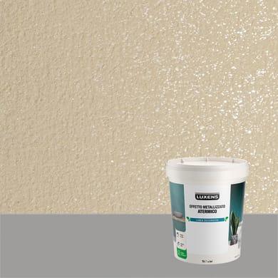 Pittura decorativa LUXENS EFFETTO METALLIZZATO ATERMICO 1 l agata bruna effetto metallo