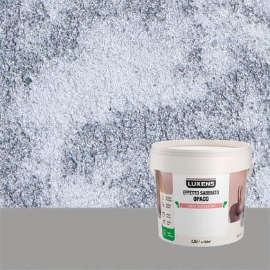 Pittura decorativa LUXENS EFFETTO SABBIATO OPACO 2.5 l azzurro del giglio effetto sabbiato