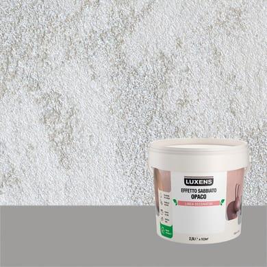 Pittura decorativa LUXENS EFFETTO SABBIATO OPACO 2.5 l fumo di lovere effetto sabbiato