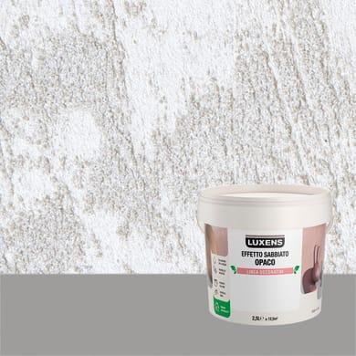 Pittura decorativa LUXENS EFFETTO SABBIATO OPACO 2.5 l candido neive effetto sabbiato