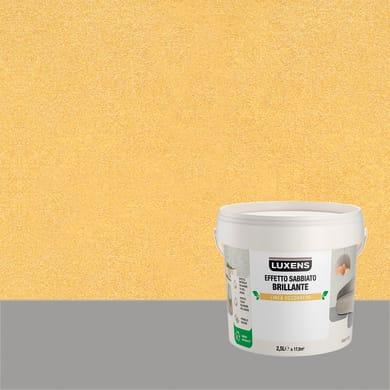 Pittura decorativa LUXENS EFFETTO SABBIATO BRILLANTE 2.5 l oro surya effetto sabbiato