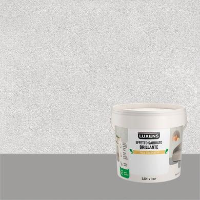 Pittura decorativa LUXENS EFFETTO SABBIATO BRILLANTE 2.5 l argento alfa effetto sabbiato