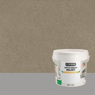 Pittura decorativa LUXENS EFFETTO SABBIATO BRILLANTE 2.5 l verde hadar effetto sabbiato