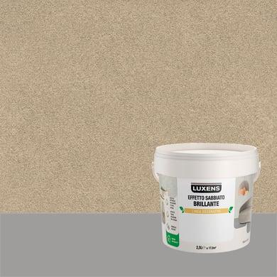 Pittura decorativa LUXENS EFFETTO SABBIATO BRILLANTE 2.5 l alcor tortora effetto sabbiato