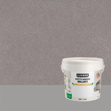 Pittura decorativa LUXENS EFFETTO SABBIATO BRILLANTE 2.5 l mizar bruno effetto sabbiato