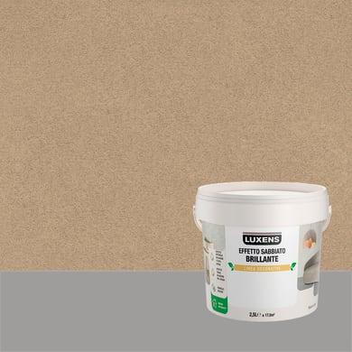 Pittura decorativa LUXENS EFFETTO SABBIATO BRILLANTE 2.5 l terra di vega effetto sabbiato