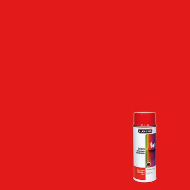 Smalto spray LUXENS Deco rosso traffico lucido 0.0075 L