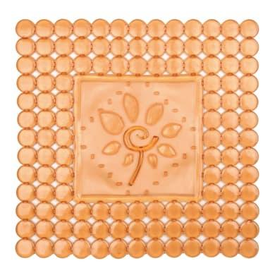 Tappeto protettivo per lavello pvc arancione L 32 x H 32 cm