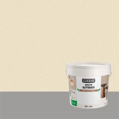 Pittura decorativa LUXENS EFFETTO GLITTERATO 2.5 l bianco andromeda glitterato