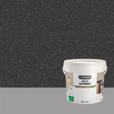 Pittura decorativa LUXENS EFFETTO GLITTERATO 2.5 l draco nero glitterato