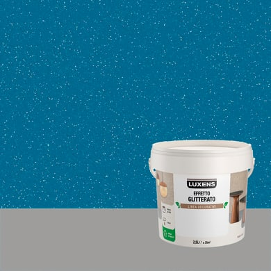 Pittura decorativa LUXENS EFFETTO GLITTERATO 2.5 l aquarius blu glitterato