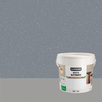 Pittura decorativa LUXENS EFFETTO GLITTERATO 2.5 l lupus grigio glitterato