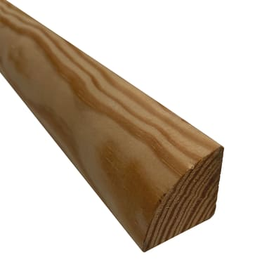 1/4 di tondo grezzo pino 2.1 m