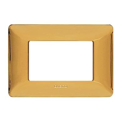 Placca Matix BTICINO 3 moduli oro lucido