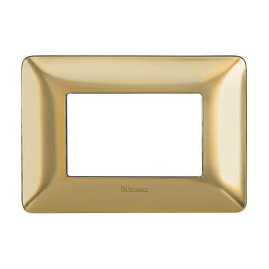 Placca Matix BTICINO 3 moduli oro