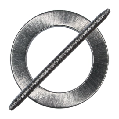 Fermatenda Spilla cerchio grigio