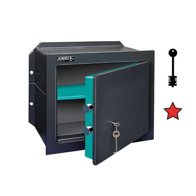 Cassaforte a chiave JUWEL 5004 da murare L26.5 x P19.2 x H17.5 cm
