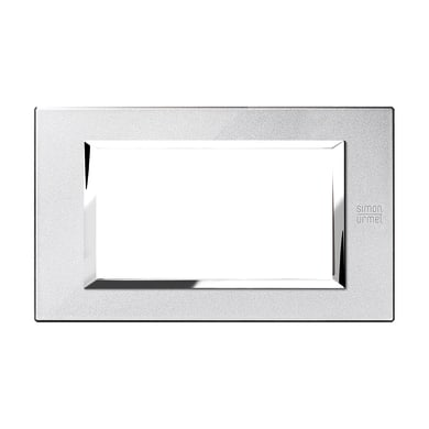 Placca SIMON URMET Nea Expì 4 moduli argento mercurio