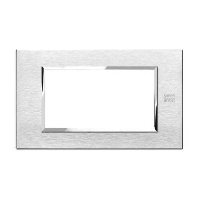 Placca SIMON URMET Nea Expì 4 moduli alluminio satinato