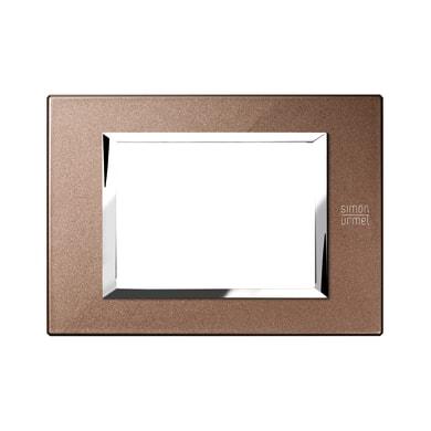 Placca SIMON URMET Nea Expì 3 moduli bronzo lucido