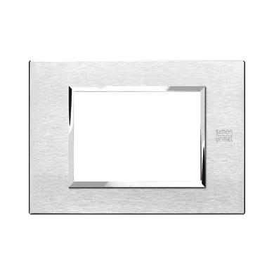 Placca SIMON URMET Nea Expì 3 moduli alluminio satinato