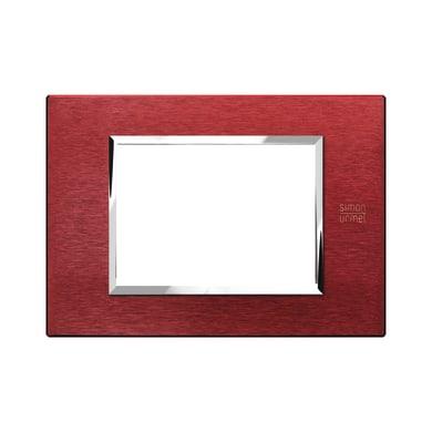 Placca SIMON URMET Nea Expì 3 moduli rosso