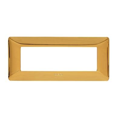 Placca BTICINO Matix 6 moduli oro lucido