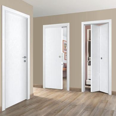 Porta a battente Side bianco L 90 x H 210 cm reversibile